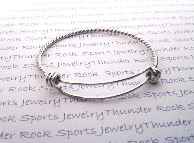 Platinum Silver Bangle Bracelet Blank