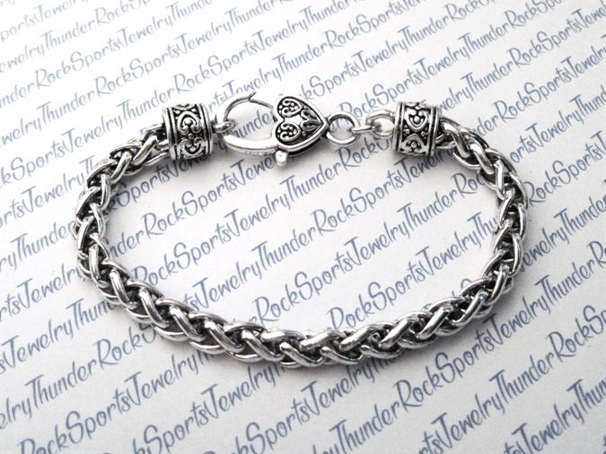 Antique Silver Wheat Bracelet